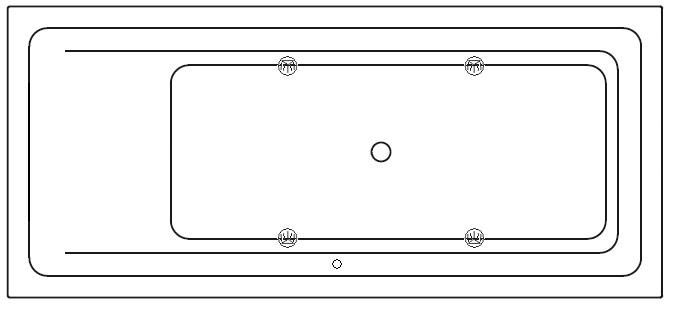 Systembeispiel mit 4 LED - SPOTs (757 im Einsitzer)