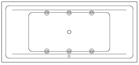 Example System with 6 LED - SPOT (758 in the doubles-seater)
