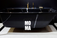 GALATEA Wanne MOMA FRAME Marmor schwarz
