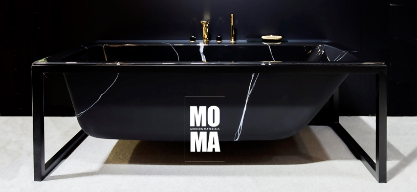 GALATEA MOMA FRAME Marble black (with Steinberg faucets)